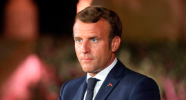 עמנואל מקרון נשיא צרפת, צילום: בלומברג