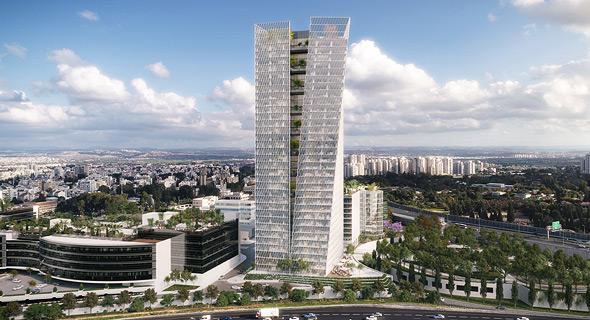 הדמיית מגדל אינפיניטי פארק רעננה, הדמיה: 3DIVISION