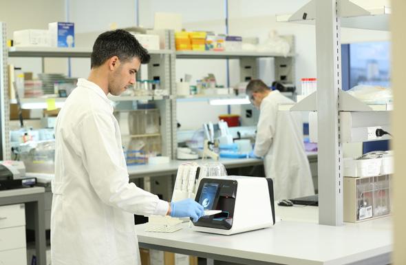 MeMed's lab in action. Photo: MeMed