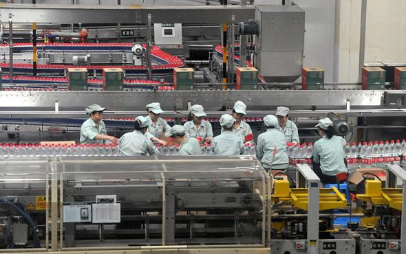 מפעל נונגפו ספרינג במחוז ז'ג'יאנג, סין