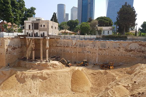 פרוייקט יונייטד שרונה בנייה ב מתחם שרונה תל אביב, צילום: דרור מרמור