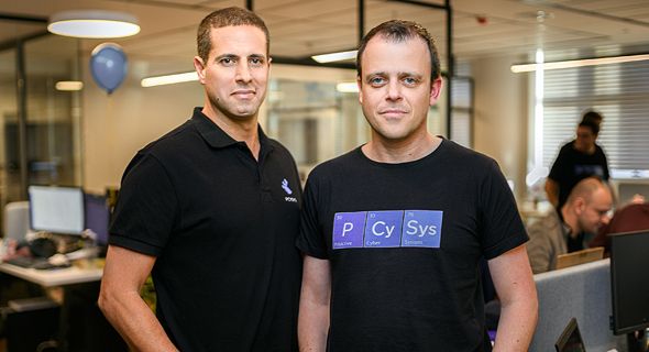 Pcysys co-founders Arik Faingold (left) and Arik Liberzon. Photo: Doron Letzter