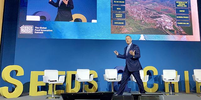 אראל מציג את פדוטק בגליל בכנס הפודטק החשוב באיטליה, צילום: יואל פלדמן