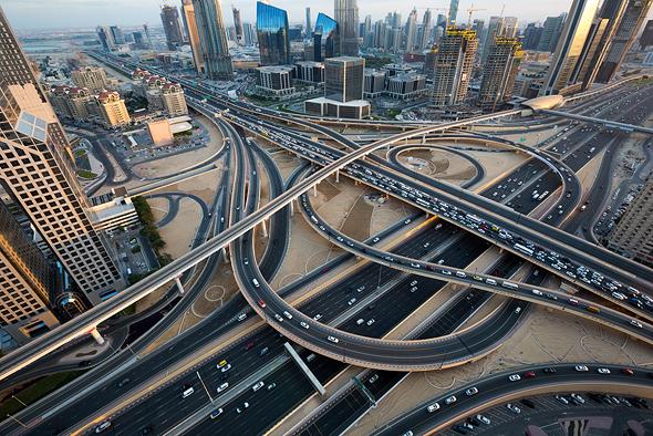 מחלפים בדובאי, צילום: שאטרסטוק