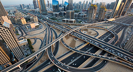 A Dubai interchange. Photo: Shutterstock
