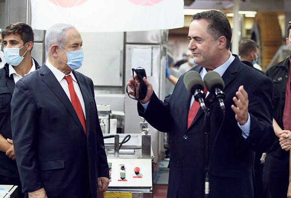 מימן שר האוצר ישראל כץ וראש הממשלה בנימין נתניהו, צילום: עמית שאבי