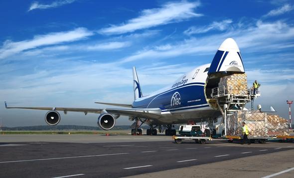מטוס מטען בואינג 747 של Air Bridge Cargo