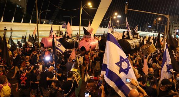 הפגנות בבלפור, צילום: עמית שאבי
