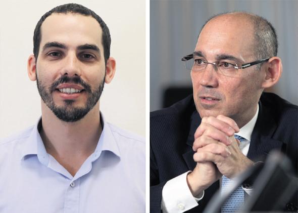 מימין: נגיד בנק ישראל אמיר ירון והממונה על התקציבים יוגב גרדוס, צילום: דוברות משרד האוצר, אלכס קולומויסקי