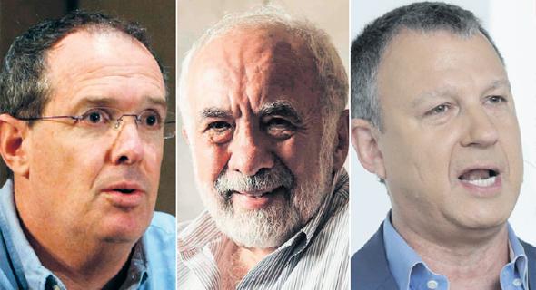 """מימין: אראל מרגלית, בני לנדא והיו""""ר החדש עמיחי שטיינברג"""