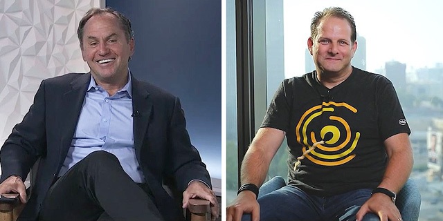 Intel CEO Bob Swan (left) and Intel Ignite General Manager Tzahi (Zack) Weisfeld. Photo: Courtesy