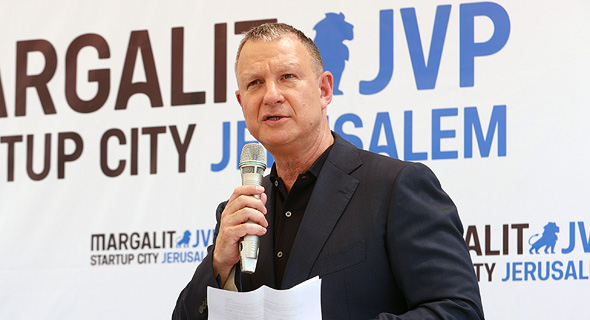 Erel Margalit speaking at the launch event in Jerusalem. Photo: Calcalist