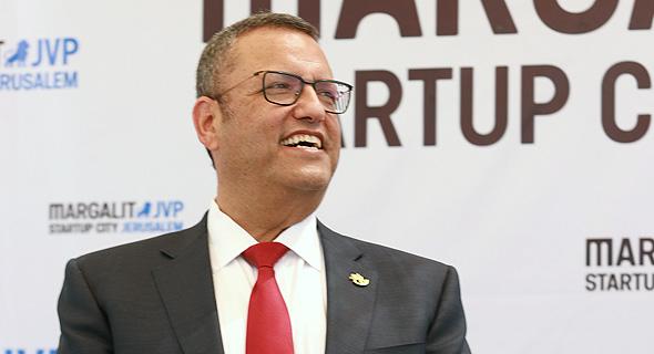 ראש עיריית ירושלים, משה ליאון,  בטקס  חנוכת רובע החדשנות