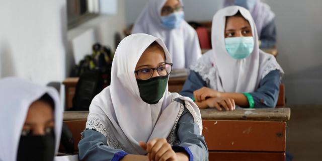 תלמידות בפקיסטן, צילום: רויטרס