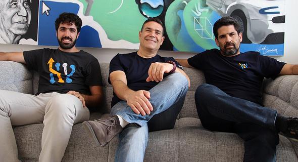 מימין: בן אלפי מייסד ומנכ״ל חברת BWR, אבירם שמואלי סמנכ״ל טכנולוגיות ויאיר שחר סמנכ״ל תפעול
