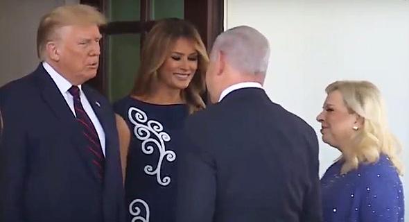 הזוג נתניהו והזוג טראמפ