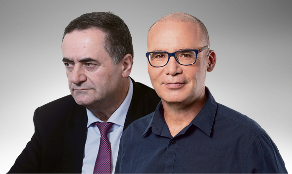 """מימין: ד""""ר עידו קאליר ושר האוצר ישראל כץ"""
