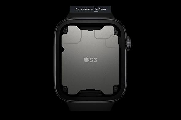 אפל ווטש 6 עם מעבד הסיליקון של אפל, צילום מסך: אפל
