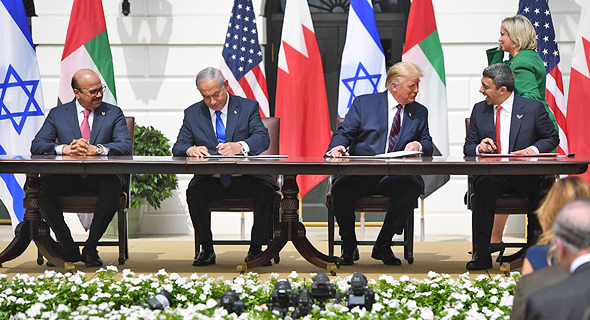 Israel signs a peace treaty with UAE and Bahrain at the White House. Photo: API