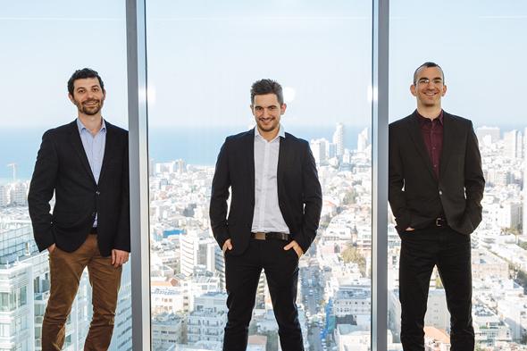 מייסדי איידוק. מימין: גיא ריינר, אלעד וולך ומיכאל ברגינסקי , צילום: גיא שרייבר