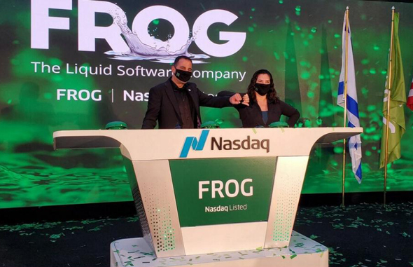 JFrog goes public on Wall Street. Photo: Nasdaq