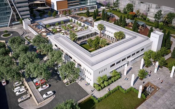 האתגר - להפוך מבצר למסחר, צילום:  משרד א. סטודיו הדמיות עבור מתכנני הטיגרט –V5 אדריכלים