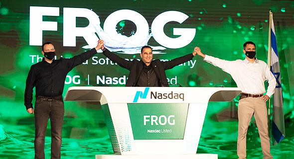 בכירי JFrog הנפקה בבורסה ניו יורק, צילום: JFrog