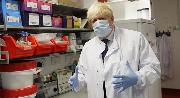 ראש ממשלת בריטניה בוריס ג'ונסון באוניברסיטת אוקספורד
