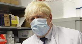 כיתוב: ראש ממשלת בריטניה בוריס ג'ונסון באוניברסיטת אוקספורד, צילום: גטי אימג'ס