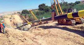 הנחת צינור גז טבעי, צילום: דוברות נתיבי הגז הטבעי לישראל