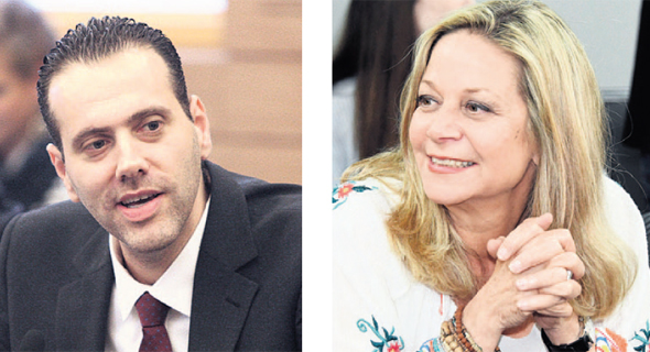 """מימין: יו""""ר ועדת הפנים מיקי חיימוביץ' ויו""""ר הקואליציה מיקי זוהר, צילום: יאיר שגיא,  עומר מסינגר"""