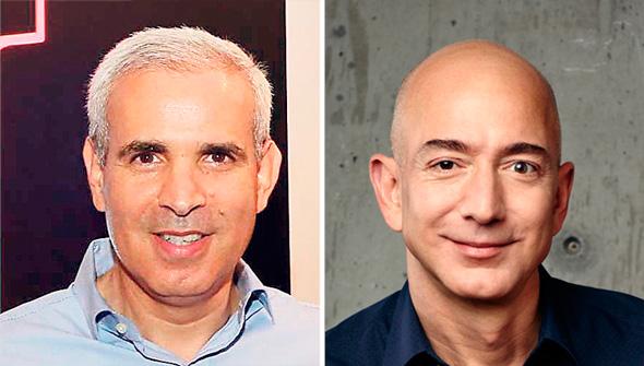 """ג'ף בזוס, מנכ""""ל אמזון העולמית והראל יפהר מאמזון ישראל"""