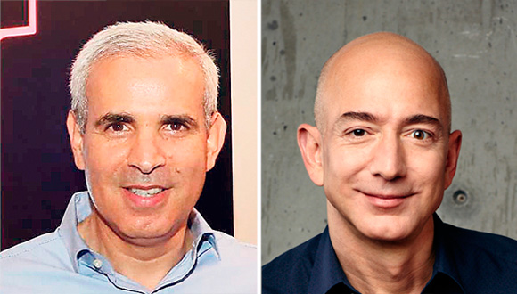 Harel Ifhar, general manager of AWS Israel and Jeff Bezos