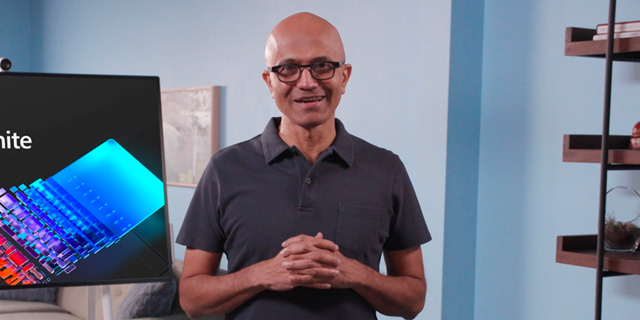 Satya Nadella, CEO of Microsoft at the Ignite 2020 online conference. Photo: Microsoft