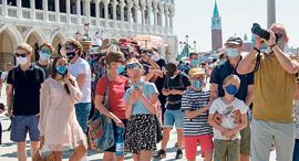 תיירים בוונציה, צילום: Marechal Aurore/ABACA