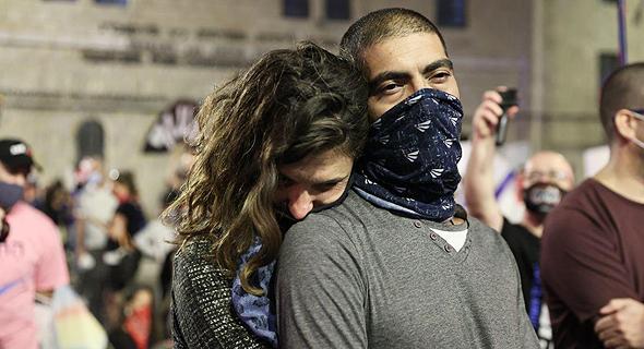 הפגנה בבלפור, צילום: אלכס קולומויסקי