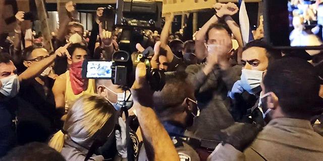 """ההפגנה בבלפור: חמישה נעצרו, 150 קיבלו דו""""ח"""