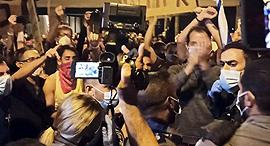 עימותים בהפגנה בירושלים, צילום: חיים גולדיש