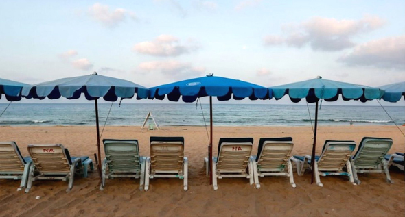 חוף ריק בפוקט בזמן הקורונה, תאילנד, צילום: רויטרס