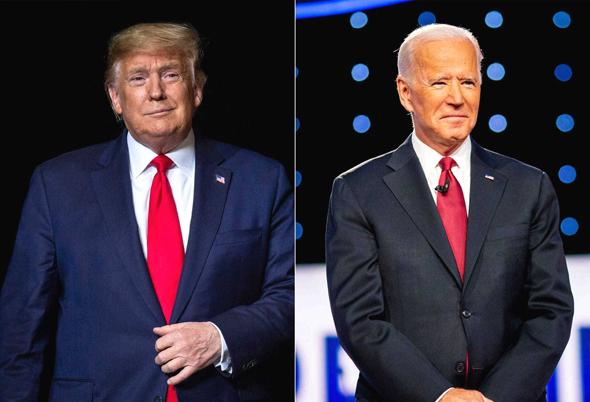 """עימות ג'ו ביידן דונלד טראמפ בחירות ארה""""ב 2020, צילום: רויטרס"""
