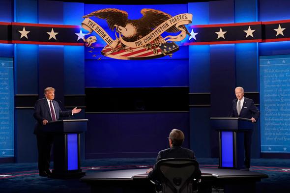 """דונלד טראמפ ג'ו ביידן עימות בחירות ב ארה""""ב , צילום: איי פי"""