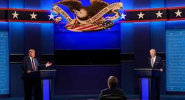 """דונלד טראמפ ג'ו ביידן עימות בחירות בארה""""ב, צילום: איי פי"""