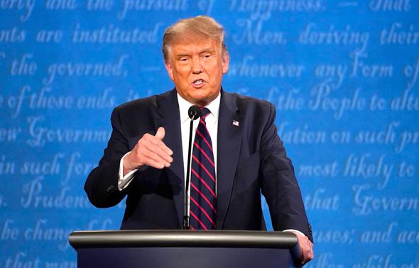 """דונלד טראמפ עימות בחירות ב ארה""""ב , צילום: איי פי"""