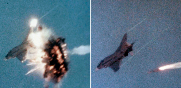 פגיעת טיל בפאנטום אמריקאי