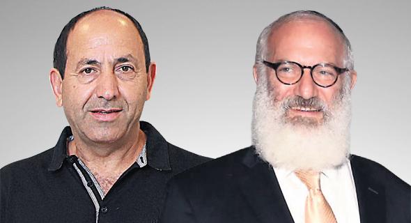 מימין: אדוארדו אלשטיין, בעל השליטה באי.די.בי לשעבר ורמי לוי, בעל השליטה בשיווק השקמה, צילומים: דנה קופל, סיון פרג׳