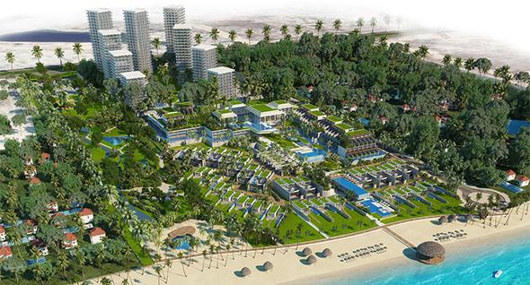 """בית המלון ומתחם הנופש SOFITEL CAM RANH בווייטנאם. """"יהיה אחד מעוגני התיירות"""" , הדמיה: זוהר שרוני"""