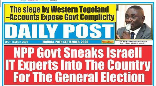 שער העיתון עם הדיווח