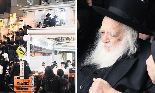 הרב חיים קנייבסקי והתור ליד ביתו כדי לקבל ברכה לפני ראש השנה. גם בבחירות הבאות ברכות מרבנים ימלאו תפקיד