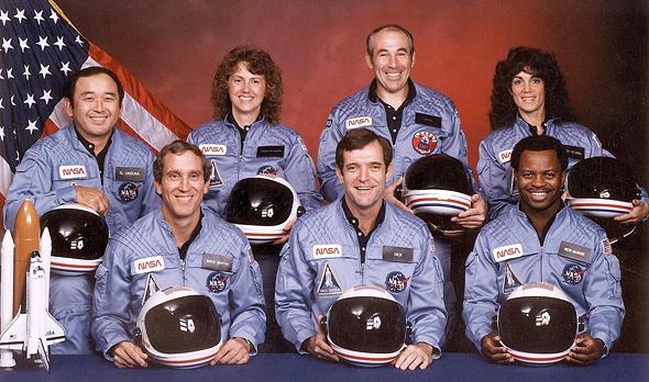 אנשי צוות מעבורת החלל צ'אלנג'ר , צילום: Public Domain/NASA