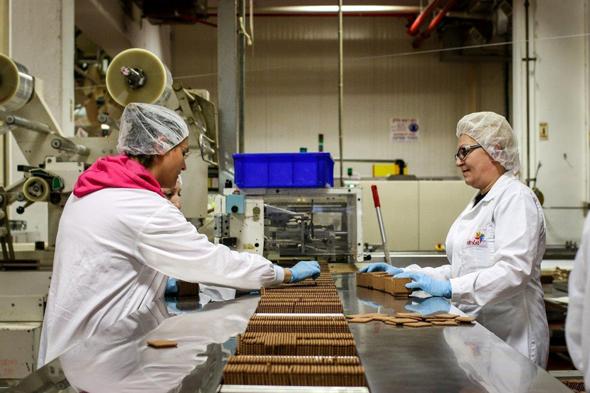 פס ייצור של מפעל שטראוס
